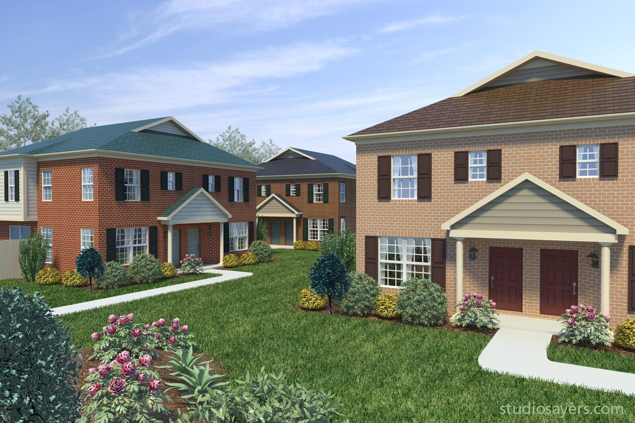 oakbrooke crossing 3D rendering