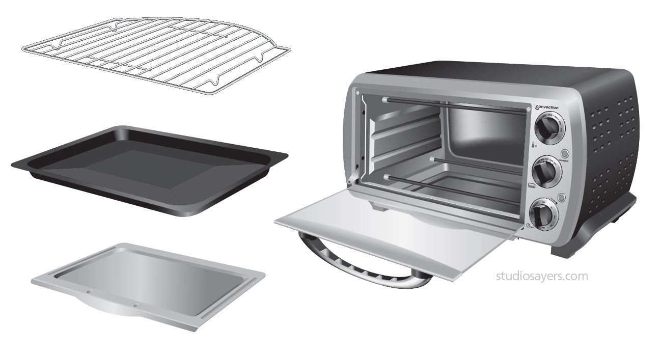 europro toaster oven illustration
