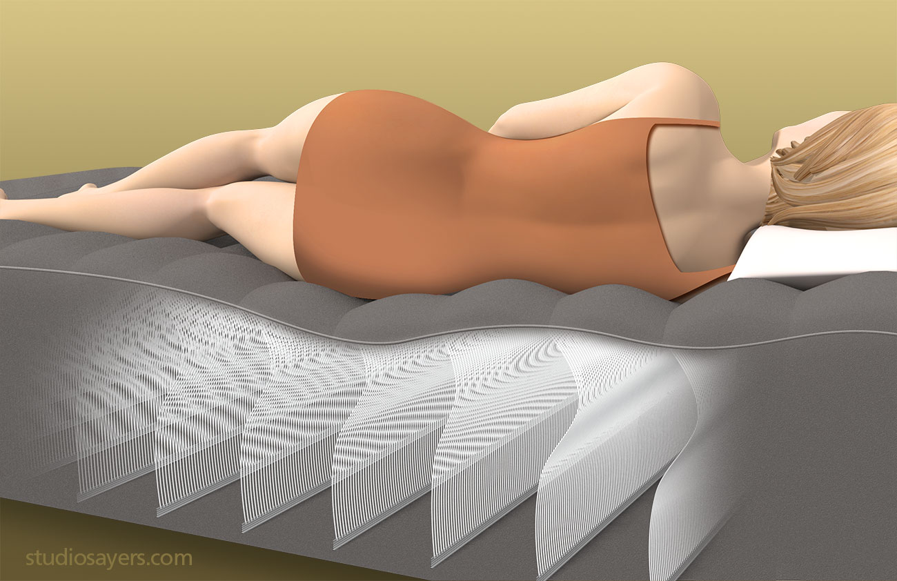 intex durabeam air mattress cutaway illustration