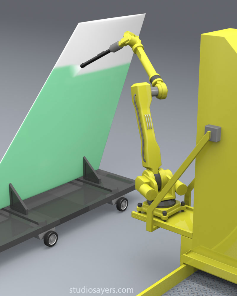 Radar absorbent paint stealth aircraft 3d illustration