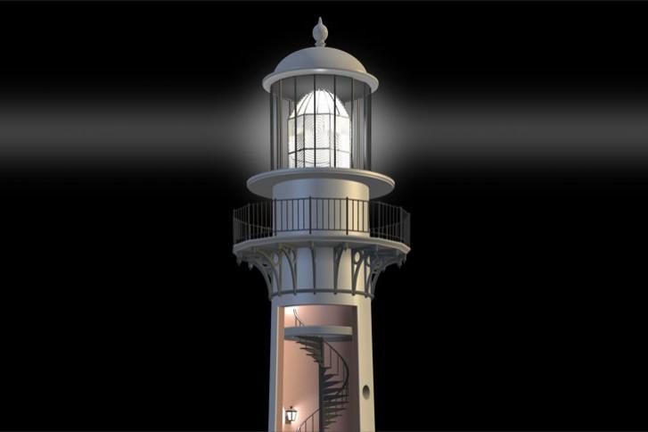 lighthouse cutaway