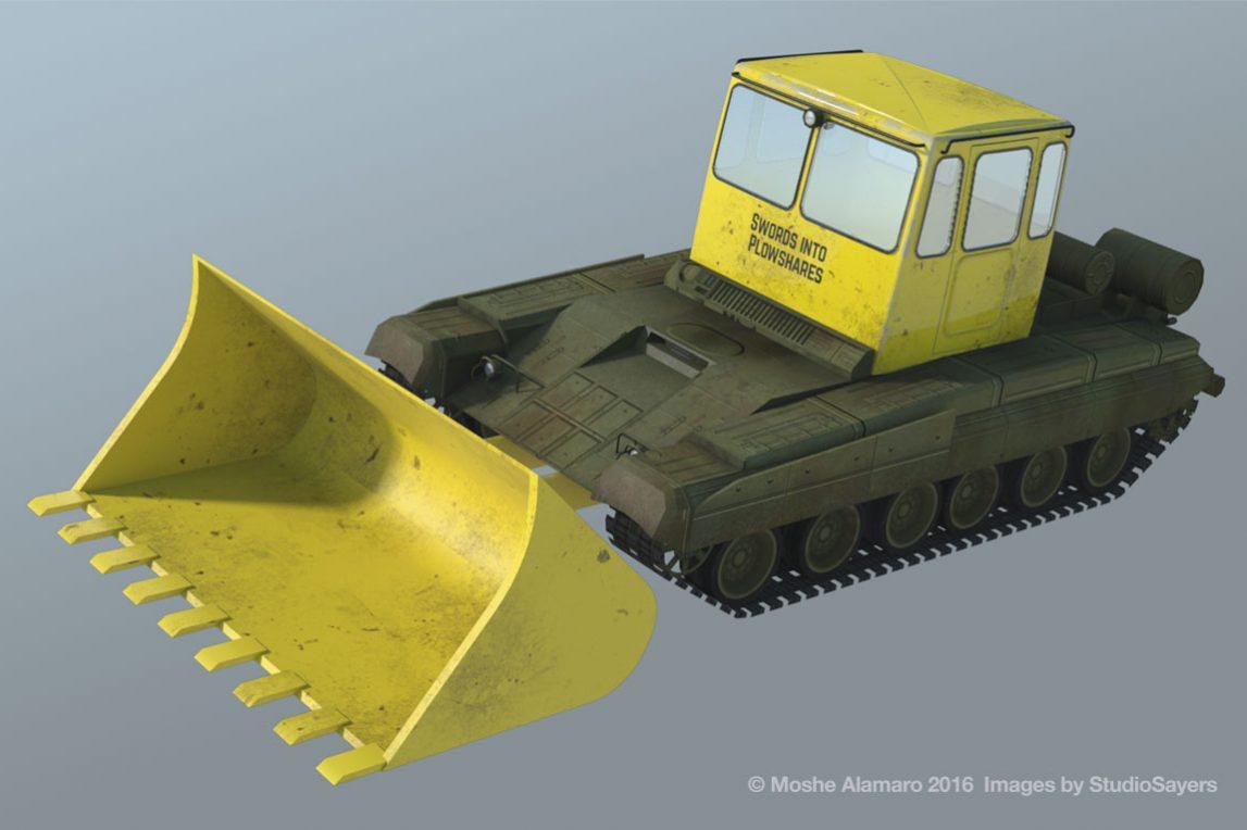 bulldozer tank