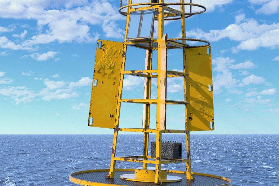 3D ocean buoy asset model