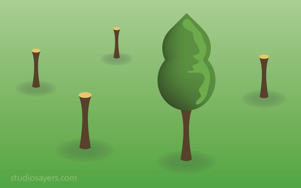 tree stumps conservation