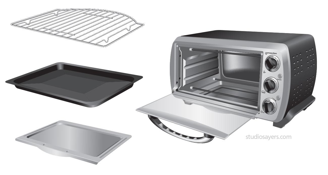 europro toaster oven illustration