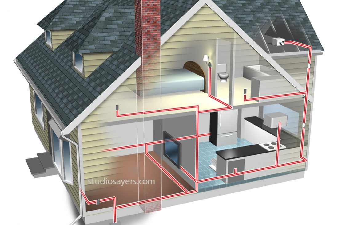 home electrical wiring cutaway