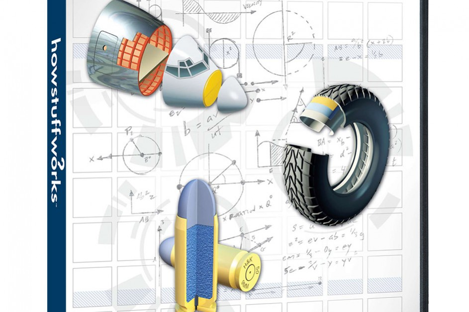 Discovery Channel How Stuff Works Aluminum, Rubber, Lead cutaway illustration