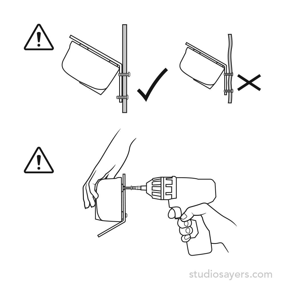 Sensor installation caution