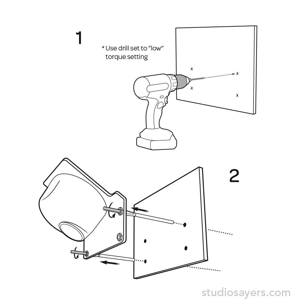Sensor alignment and drilling holes